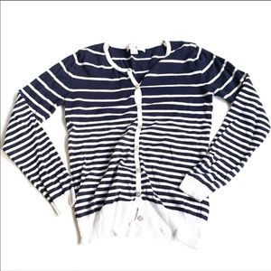 Forever 21 striped cardigan button down small